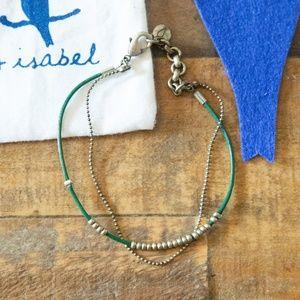 Chloe & Isabel Green Gold Dainty Bracelet